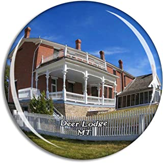Deer Lodge Grant Kohrs Ranch Montana USA Magnet Travel Souvenir 3D Crystal Glass Collection Gift Refrigerator Sticker