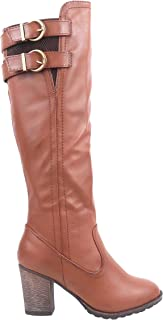 Women Fashioned Knee-high Over-Calf High Heels Boots