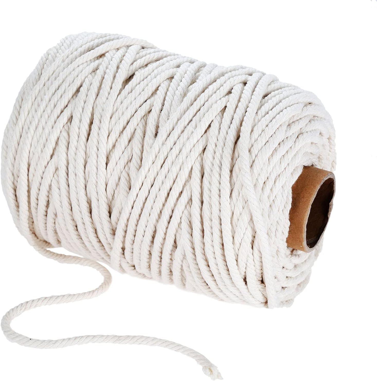 PAZIKO 1 2 3 4 5 6 8 Twisted Cord Rope El Paso Mall Braided Craft Phoenix Mall Cotton 10mm