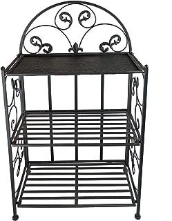 PierSurplus Decorative 32 in Metal Shelf With Wrought Iron Motif, Folding Shelf, V2 Product SKU: HD229388B