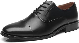 La Milano Mens Leather Updated Classic Cap Toe Oxfords Lace Dress Shoes black Size: 5.5 UK