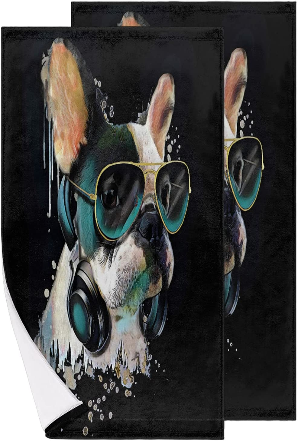 French Bulldog Watercolor Hand Towels Sales for Cheap super special price sale Wa of 2 Set