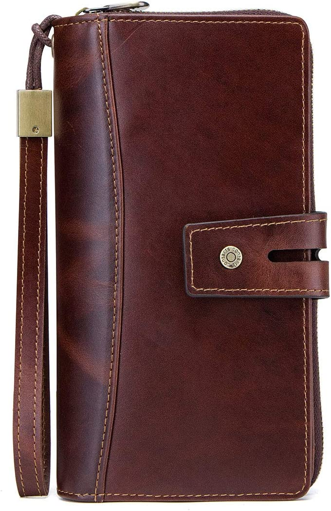 Mens Leather Sale SALE% OFF Trifold Wallet Clutch Men New life Zip Han for