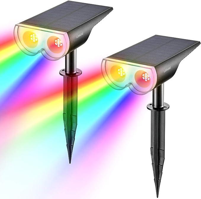 1233 opinioni per Linkind Luci da giardino colorate dal crepuscolo al tramonto, lampada solare con