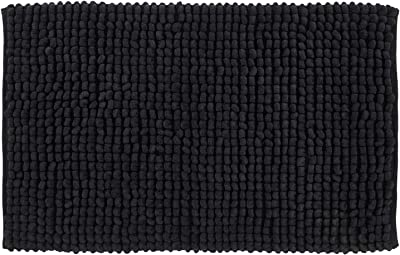 "Better Trends Noodle Collection is Ultra Soft, Plush and Absorbent Tufted Bath Mat Rug 100 Percent Micro Polyester in Vibrant Colors, 24"" x 40"" Rectangle, Charcoal"