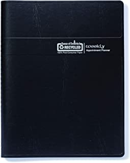 House of Doolittle 2020 Weekly Planner Calendar, 7 Day, Black Cover, 8.5 x 11 Inches, January - December (HOD28402-20)