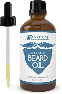 Beard Essential Oil - Pure, Unrefined, Non-GMO - Oil For Grooming Kit - Promote Beard Growth & A Softer Beard - Great Conditioner For Dry & Sensitive Skin - With Dropper - by UpNature (4 oz.)