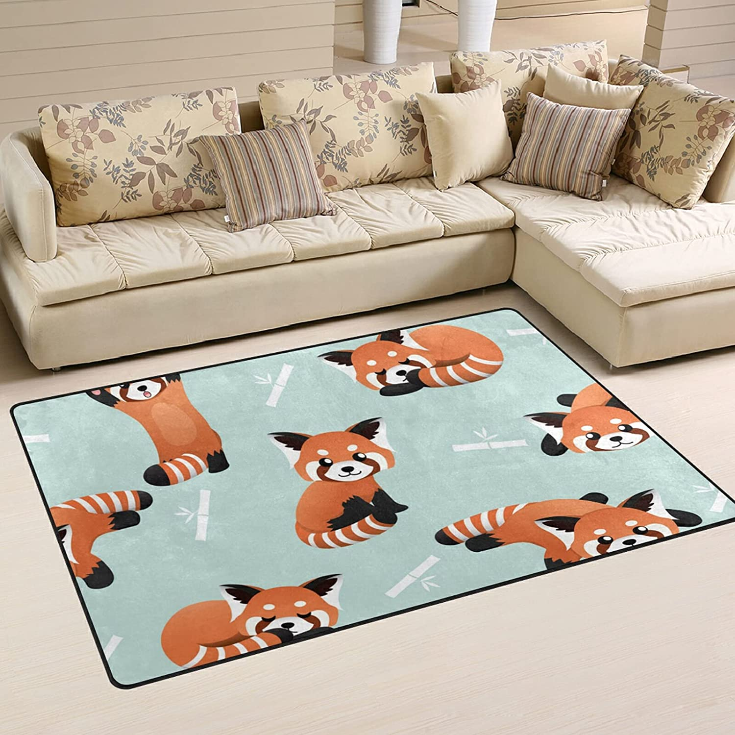 Cute 2021 model Red Panda Bamboo Large Soft Nursery Area Rug Playmat New Free Shipping M Rugs