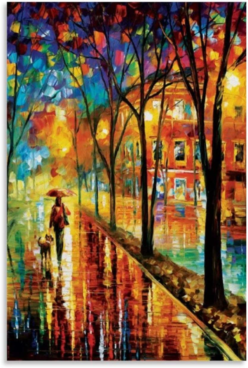 Fixed price for sale Scenic Landscapes Urban City Parks - Special sale item Dog b with Walk Print Art