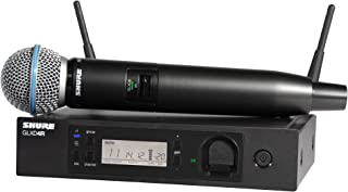 Shure GLXD24R/B58-Z2 Rechargeable Wireless System with BETA58A Vocal Microphone, Half Rack