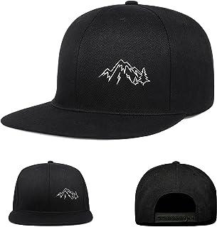 Negi Snapback Hats for Men Flat Bill Black Adjustable Baseball Cap Trucker Dad caps