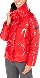 womens Quilted Polyfilled Puffer Jacket With Oversized Collar