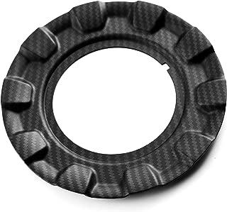 1pc 162mm(6.38in)/90mm(3.54in) Carbon Fiber Grain ABS Wheel Center Hup Caps for 09.24.187/23.422 BBS RZ RG 15