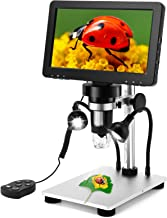 7 inch Coin Microscope, Elikliv 1080P LCD Digital Microscope with Wired Remote,1200X Magnification Handheld Microscope wit...
