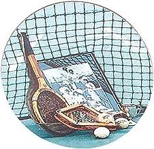 Navika USA Vintage Tennis Coasters, Blue/Brown