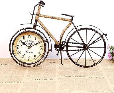 YONGYONG-clock Creativo Retro Bicicleta Reloj De Metal con Cuerda ...