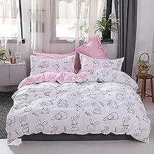 مجموعة شراشف السرير بتصميم ارنب كبير الاذنين اربع قطع (بدون لحاف) للاطفال من الجنسين من سوفام، تتضمن غطاء لحاف عدد 1 وشرشف...