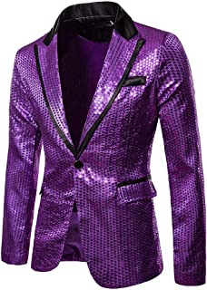 Blazer Charm Men's Casual Faux Jacket One Button Fit Suit Blazer Coat Jacket