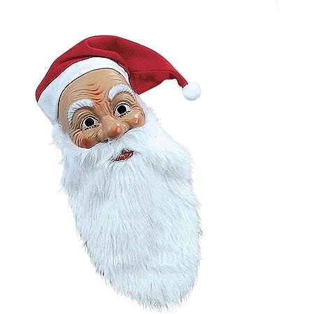 WEIHNACHTSMANNBART /& MASKE Weihnachtsmann Nikolaus Mütze Bart Kostüm Verkleidung