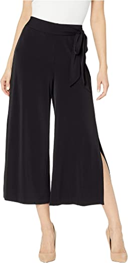 54d1f6e47 Black. 69. eci. Cropped Wide Leg Stretch Pants