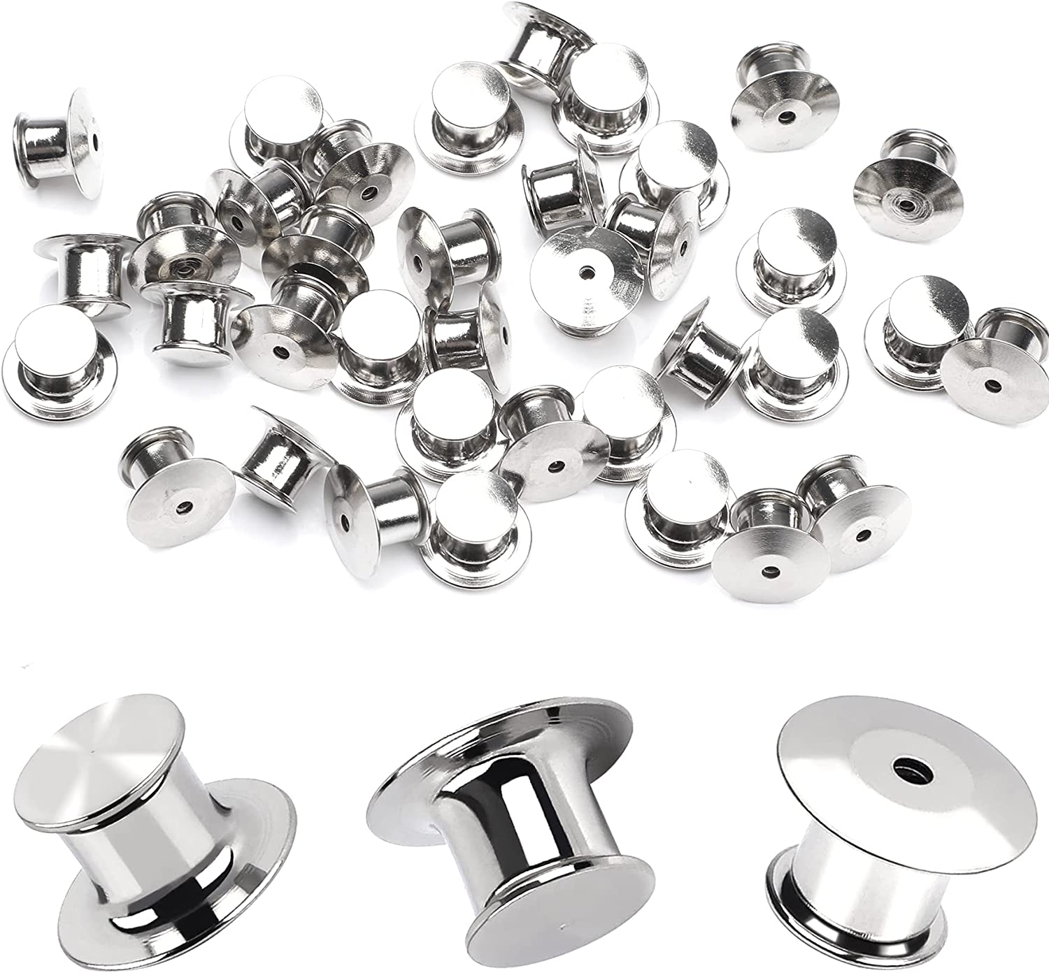 30 Pieces Metal Pin Backs Locking Keepers Clasp Max 69% Ranking TOP13 OFF