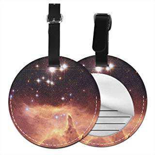 Perfectly Customized Nebula Star Round Luggage Tags Suitcase Labels Bag Travel Accessories Tough