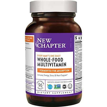 New Chapter Men's Multivitamin + Immune Support – Every Man's One Daily with Fermented Nutrients - 96 ct