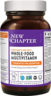 New Chapter Men's Multivitamin, Every Man's One Daily Fermented with Probiotics + Selenium + B Vitamins + Vitamin D3 + Org...