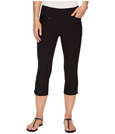 Lisette L Montreal Solid Magical Lycra(r) Capri Pants (Black) Women