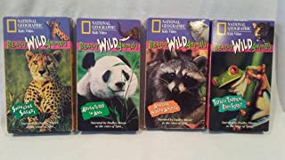 Lot of 4 National Geographic Really Wild Animals VHS, Amazing North America, Totally tropical Rain Forest, Adventures in Asia, Swinging Sarafi.