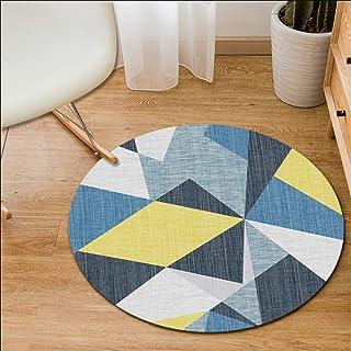 Ommda Nowoczesny okrągły geometryczny nadruk zmywalny antypoślizgowy gumowy spód dywaniki maty podłogowe do salonu, YXDT0...