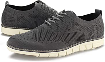 Hawkwell Men's Wingtip Oxford Shoes Casual Lace Up Dress Shoes Knit Sneaker