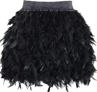 Best black ostrich feather mini skirt Reviews
