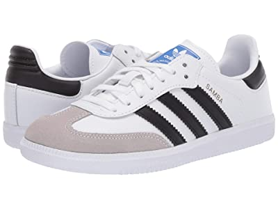 adidas Originals Kids Samba OG C (Little Kid) (White/Black) Kids Shoes