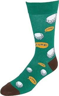 Calcetines de vestir de tema de golf para hombre