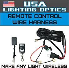 Wireless Remote Control Universal Wiring Harness Off Road ATV/UTV Trucks LED Light Bar - 40 Amp Relay ON/OFF Switch