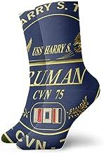 US Navy Aircraft Carrier USS Harry S Truman (cvn 75) Dress Socks Crew Socks Cushion Low Cut Socks Breathable Casual Socks