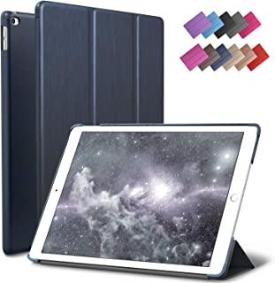 ROARTZ iPad Mini 4 case, Metallic Navy Blue Slim Fit Smart Rubber Coated Folio Case Hard Cover Light-Weight Auto Wake/Sleep for Apple iPad Mini 4th Generation Model A1538/A1550 Retina Display