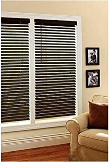 Better Homes and Gardens 2-Inch Faux Wood Window Blinds, Espresso