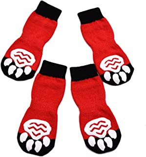 EXPAWLORER Anti-Slip Dog Socks Traction Control for Indoor Wear, Paw Protection