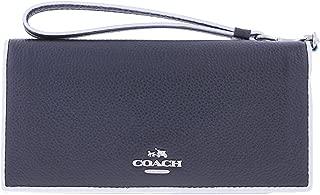 Coach Women's Tricolor Edgestain Slim Wallet Silver/Black Tricolor Wallet