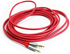 ABLET Audio Cable for JBL Synchros S700, S400BT, J56BT, S300, S300I, S300a, S500, S700, E40BT, E30, E40, E50BT,S400BT Headphones Red 3meter/9.9ft