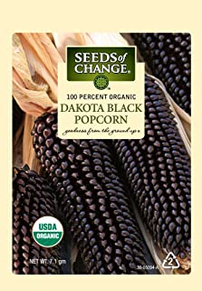 Seeds of Change Certified Organic Dakota Black Popcorn Seeds