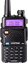 BaoFeng UV-5R Dual Band Two Way Radio Ham handheld Walkie Talkie UHF/VHF 136-174/400-480Mhz 128 Channels (Black)
