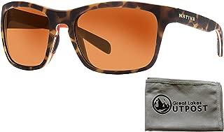 Penrose, Desert Tort Sunglasses with Bronze Reflex Lenses and Cloth