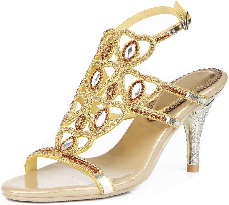 YooPrettyz Women Sweetheart Pumps Slingback Sandals High Heels Evening Cut-Out Sandals