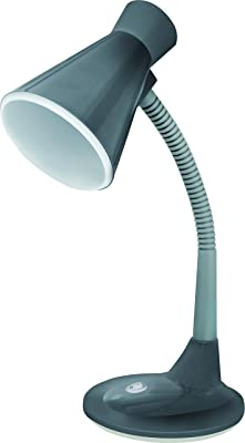 Luminaria de Mesa E27 Taschibra TLM 03 Cinza 15.0 Produzida em plástico com soquete de porcelana, corpo da luminária articulável