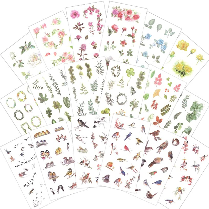 1000Art Planner Stickers Pack(18 Sheets / 200+) Flowers Birds Green Plant Leaves Sticker Set for DIY Arts and Crafts,Life Daily Planner,Bullet Journals,Scrapbooks,Calendars, Album nbnv428838000761