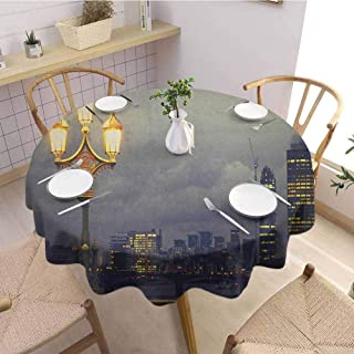 round outdoor tablecloth with umbrella hole uk