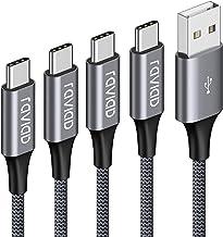 Câble USB Type C, RAVIAD [Lot de 4, 0.5m+1m+2m+3m] USB Cable Type C en Nylon Tressé Chargeur USB C Connecteur pour Samsung...